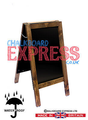 CHALKBOARD PAVEMENT BOARD SANDWICH DISPLAY BLACKBOARD  80cm x 40cm OAK 5KGS