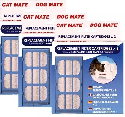 New Pet Mate Cat Water Fountain Filter Cartridge 3 Packs Of 2