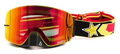 Dragon NEW Mx NFXS Rockstar Energy Ionized Yellow Red Tinted Motocross Goggles