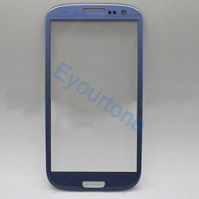 NEW Outer Screen Glass Lens For Samsung S3 SIII GALAXY i9300 Blue with tools