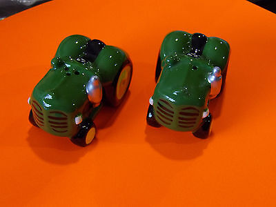 Dakota  Tractors Green Salt & Pepper Shakers *in Aust * Very Nice