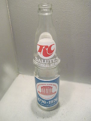 Royal Crown Cola 16 Oz 1976.SOUVENIER BOTTLES  GEORGE RODGES CLARK ( Empty)