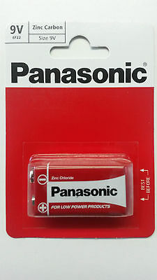 Genuine Panasonic Heavy Duty 9V Block Zinc-Carbon Battery 6F22 Pack of 1 UK