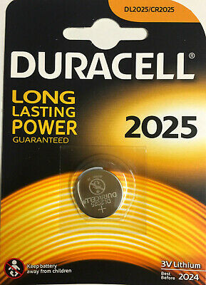 10 Duracell Electronics DL2025 3V Lithium Coin Cell Batteries CR2025 Genuine UK