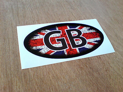 UNION JACK GB Distressed Look Van Car Motorcycle Caravan Sticker 1 off 125mm