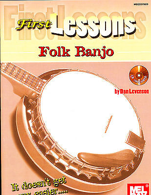First Lessons Folk Banjo Book and CD