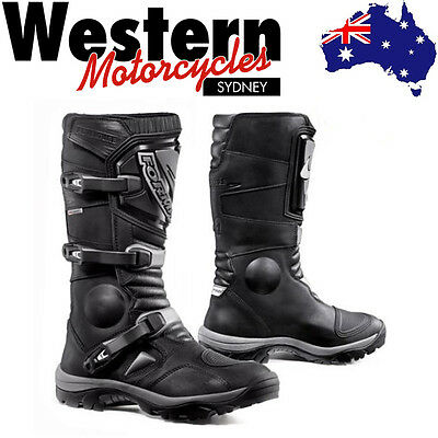 Forma Adventure Black Waterproof Motorcycle Motorbike Riding Boot