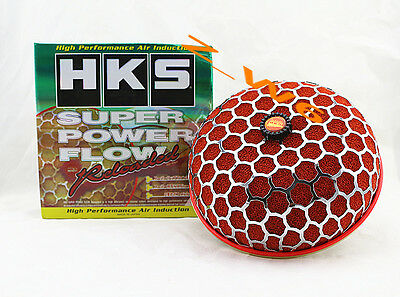 HKS 3.9 Inch Turbo Air Inlet Filter Red JDM Super Power Flow Reloaded Kit 200MM