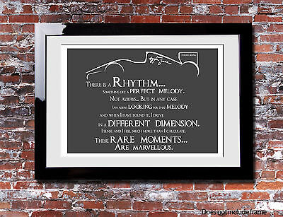 Ayrton Senna Rhythm Quote Picture Print Gift Canvas Wall Word Art Typography F1