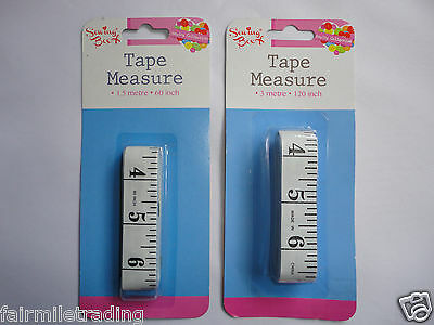 "Measuring Tape Sewing Box Seamstress Measure Tailor Ruler 60"" or 120"" XL Craft"