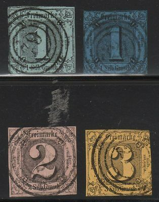 Thurn and Taxis, Sc#4-7, Used, 2013 CV $225, Germany, Altdeutschland