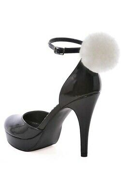 Adult Womens Cottontail Bunny Playboy Black High Heel Costume Shoes Accessory