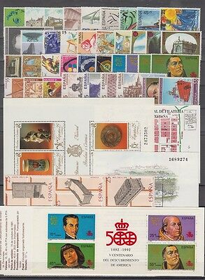 Spain - España - Year 1991 Complete With All The Stamps Mnh
