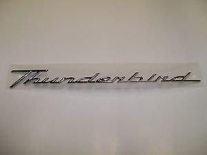 OEM Ford Name Plate THUNDERBIRD 2002-2005 Passenger Side Rear 1W6Z76517A20AA