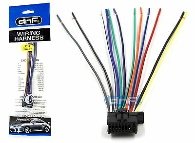 new wire harness for sony cdx gt25mpw cdx gt300 cdx gt30w pioneer deh 3300ub deh 33hd deh 3400ub wiring harness 100% copper