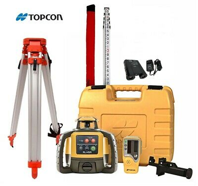 Topcon RL-H5A Construction Laser Level Rechargeable Kit With Tripod And 16' Rod
