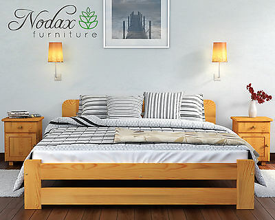 Brand New Solid Pine Double Bed Frame & Slats ***European Size 140/200 cm