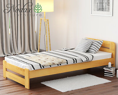 Brand New Solid Pine Single Bed Frame&Slats **European Size 90/200 cm