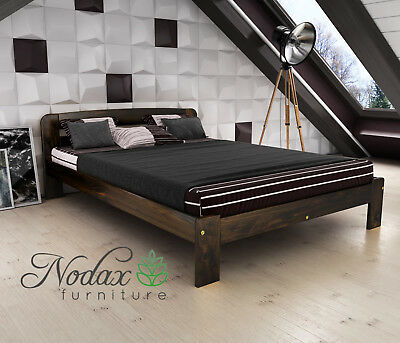New Solid Pine Double Bed Frame & Slats ***European Size 140/200 cm - F4