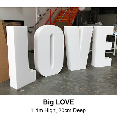 3D Big LOVE  / Giant LOVE / Polystyrene Foam Letters 110cm high