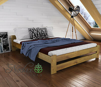 New Solid Pine European King Size Bed Frame & Slats**Various Colours - F3