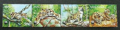 WWF Clouded Leopard Malaysia 1995 Tiger Cat Fauna Animal Wildlife (stamp) MNH
