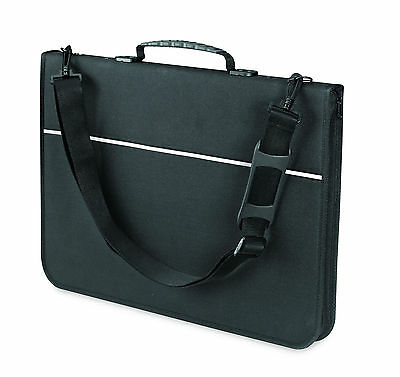 Mapac Quartz Portfolio A4 Black Polypropylene Storage Case 22x30cm High Quality