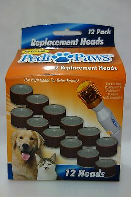 Pedi Paws Refill Nail File Trimmer Replacement Heads Pedipaws 12 pack As Seen TV