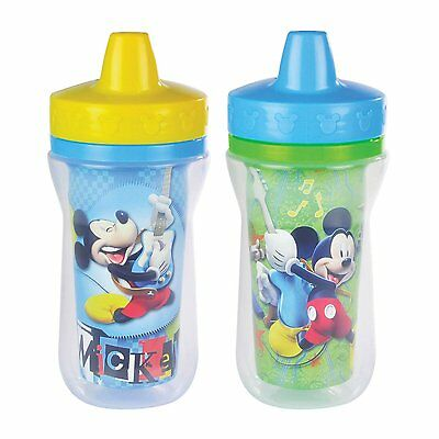 Disney Insulated Sippy Cup, Mickey Mouse, The First Years, 2 Pack 9 Ounce, New
