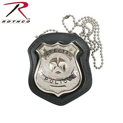 Badge Holder Clip On Leather Law Enforcement Rothco 1135