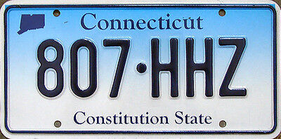 Connecticut CONSTITUTION STATE Blue Fade License Plate - UCONN HUSKIES