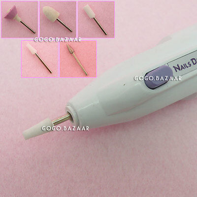 Nail Art Drill Tips Electric Manicure Toenail File Tool Salon Nail Grinder #68