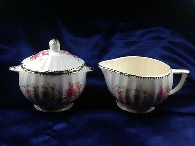 Limoges Bramble Creamer and Sugar Bowl with Lid