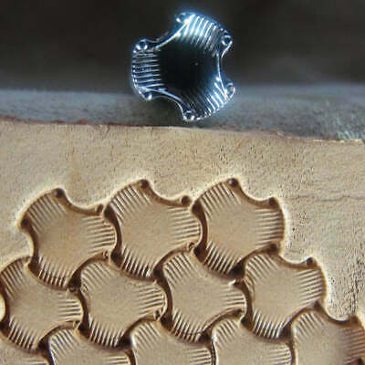 Leather Stamping Tool - E684-S Small Tri-Weave Stamp