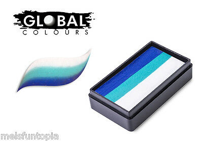 Global Colours 30g Santorini Fun Stroke Rainbow Cake, Professional Face Paint