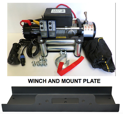 RECOVERY TRUCK WINCH 13500 lb 12v 4x4  WITH  MOUNT PLATE WINCH-IT W Series