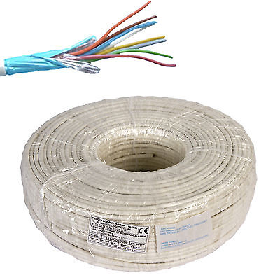 Electric Cable Wire Shielded Alarm Fire Retardant 4X0,22 + 2X0,50 Hank Of 100 Mt