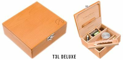 Wolf Production Rolling Box T3L Deluxe Wooden Box smoking / wood + Free Grinder