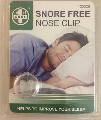 Snoring Free Nose Clip Anti Snore Stop Device Sleeping Aid First Care