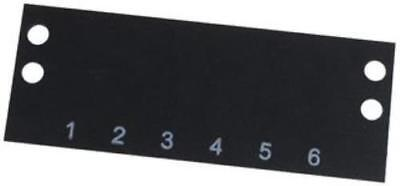 2 X Cinch-Ms-6-140-Terminal Block Marker, 1 To 6, 9.53Mm