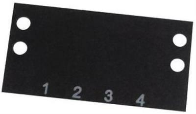 2 X Cinch-Ms-4-140-Terminal Block Marker, 1 To 4, 9.53Mm