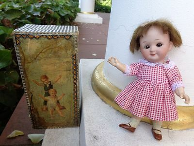 Antike Googly Puppe c1910 geschlossener Mund antike Schachtel closed mouth doll