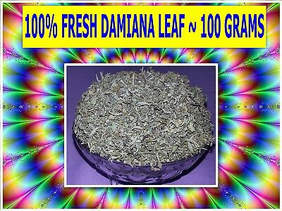 DAMIANA LEAF 100g ☆Turnera diffusa☆APHRODISIAC☆ WILDCRAFTED ☆ PREMIUM FREE POST