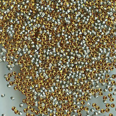 1028 PP11 T *** 50 STRASS SWAROVSKI FOND CONIQUE 1,75mm TOPAZ  F
