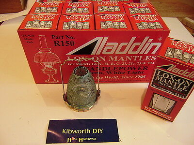 Job Lot Full Box 12 Aladdin Loxon Mantles R150 Lox-On Mantle Paraffin Lamp 23