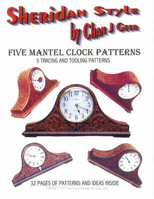 Sheridan Style Mantel Clock Leather Patterns by Chan Geer (Leathercraft Designs)