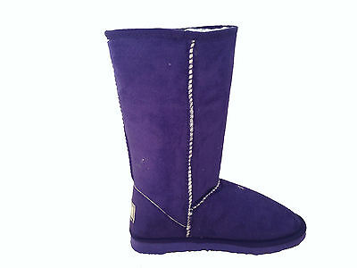 Lady ugg Boots Classic Tall Synthetic Wool Colour Purple Multi Size