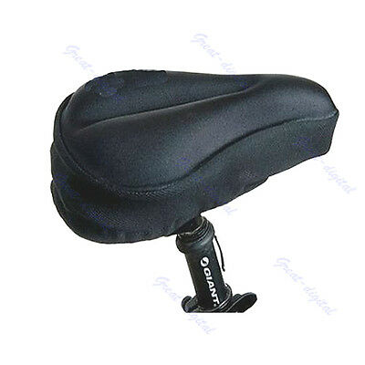 Silicone Thick Soft Gel Bike Bicycle Saddle Seat Cover Cushion Pad Silica New
