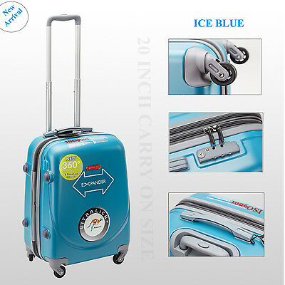 Single 20 inch 45L Luggage Trolley Travel Bag 4 Wheel suitcase Cabin Carry On