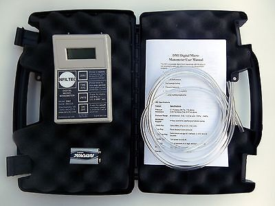 "Infiltec DM1 Digital Micro-Manometer  differential pressure 0.1 Pascal 0.001 ""wc"